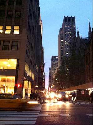 長旅を経て、ニューヨーク。