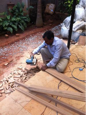 そして庭の工事開始。